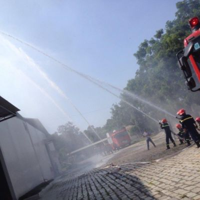 Fire drill at IST by Phan Thiet Fire department